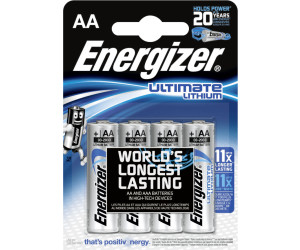 energizer ultimate lithium aa mignon fr6 batterie 1 5v 3000 mah 4 st ab 5 89. Black Bedroom Furniture Sets. Home Design Ideas