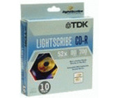 TDK CD-R 700MB 80min 52x LightScribe 10er Spindel