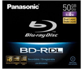 Panasonic BD-R DL 50GB 270min 6x 1pk Jewel Case