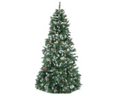 Festive Lights 6ft Green Luxury Tree with Snow Tips