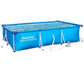 "Bestway Deluxe Splash Frame Pool 10' x 6.5' x 28"" (56078 Filter Pump)"