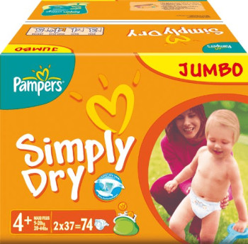 Pampers Simply Dry Gr. 4+ (9-20 kg)