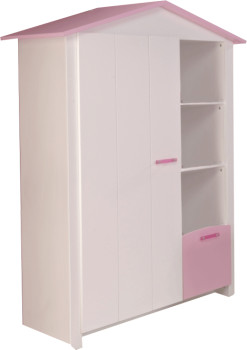 parisot kleiderschrank biotiful 1 t rig ab 199 99 preisvergleich bei. Black Bedroom Furniture Sets. Home Design Ideas
