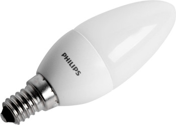 Philips LED Kerzenlampe 4 W (25 W), E14-Sockel, Warmweiß