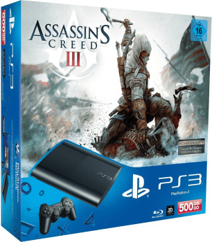 Sony Playstation 3 (PS3) Super slim 500GB + Assassin&#039;s Creed III