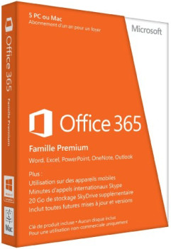 microsoft office 365 famille premium fr pack office prix comparer sur. Black Bedroom Furniture Sets. Home Design Ideas