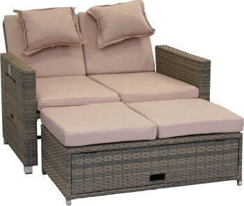 greemotion bahia loungesofa 2 sitzer polyrattan. Black Bedroom Furniture Sets. Home Design Ideas