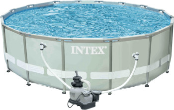 intex frame pool 457 122 mit sandfilter schwimmbad und saunen. Black Bedroom Furniture Sets. Home Design Ideas