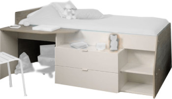 parisot hochbett milky 2309 liti ab 229 00 preisvergleich bei. Black Bedroom Furniture Sets. Home Design Ideas