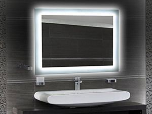 led badspiegel 60 x 80 cm bei. Black Bedroom Furniture Sets. Home Design Ideas