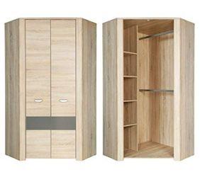kleiderschrank holzfarben preisvergleich g nstig bei idealo kaufen. Black Bedroom Furniture Sets. Home Design Ideas