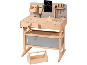 werkbank holz kinder bei. Black Bedroom Furniture Sets. Home Design Ideas