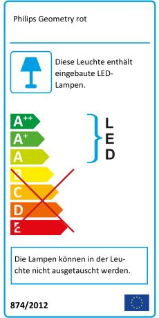 Leuchten & Leuchtmittel Büromöbel Philips Myliving Led Tischleuchte Geometry Rot