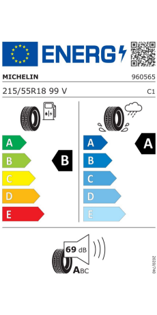 215//55//18 99V A//B//69dB Autovetture Pneumatici Estivi MICHELIN PRIMACY 3 XL