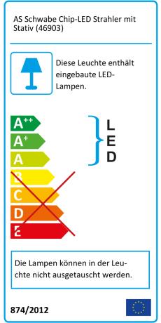 as Schwabe Chip LED Strahler mit Stativ Baustrahler Lampe Leuchte 30 W