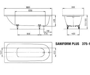 kaldewei saniform plus 375 1 180 x 80 cm au meilleur prix sur. Black Bedroom Furniture Sets. Home Design Ideas