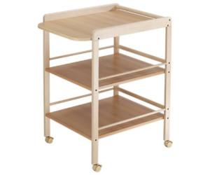 roulettes Plan /à/ langer Geuther Table /à/Langer Clarissa blanche 2 /étag/ères