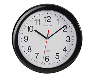 Conrad Quartz Wall Clock Black Classic