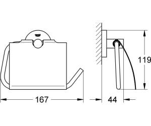 11,4 x 5,7 x 19 cm Chrom/é M/étal GROHE Atrio D/érouleur de Papier Toilette