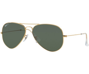 Rb3025 Aviator Large Metal 001/58 Gold Crystal Green Polarized 58/14 135 3TDtkPOX