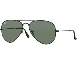 d5869cbb16 Ray-Ban Aviator Metal RB3025 002/58 (black/polarized green) desde ...