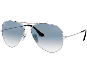 ray ban aviator argent gris