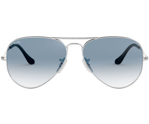 Aviator Metal Large Ray Rb3025 0033fargentbleu Clair Ban Dégradé cRAj54Lq3