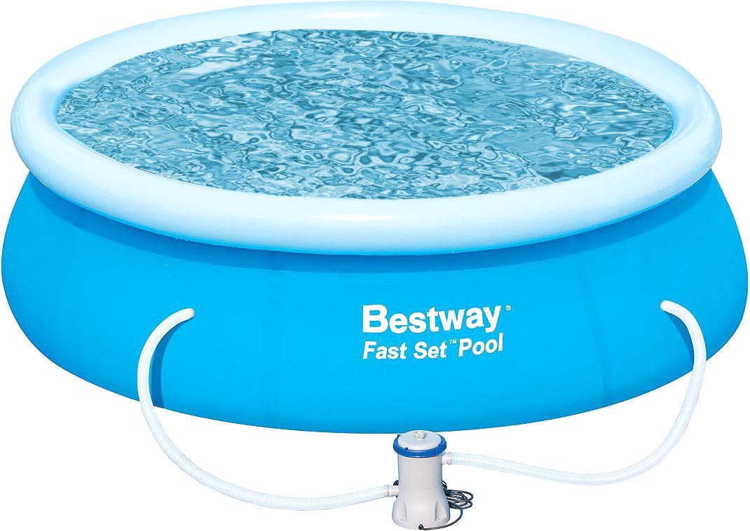 Bestway Fast Set Piscina desmontable con filtro 244 x 66 cm (57100)