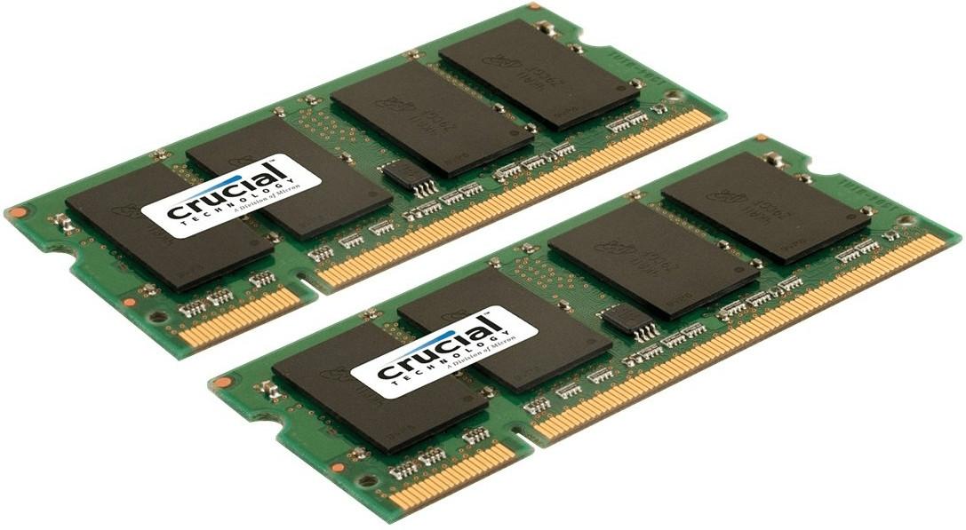 #Crucial 4GB Kit SO-DIMM DDR2 PC2-6400 (CT2KIT25664AC80E) CL6#