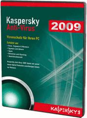 Image of Kaspersky Antivirus 2009 (DE) (Win)