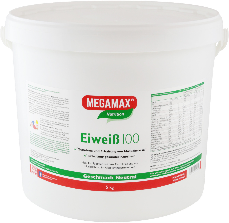 Megamax Eiweiss 100 Neutral Pulver (5 kg)