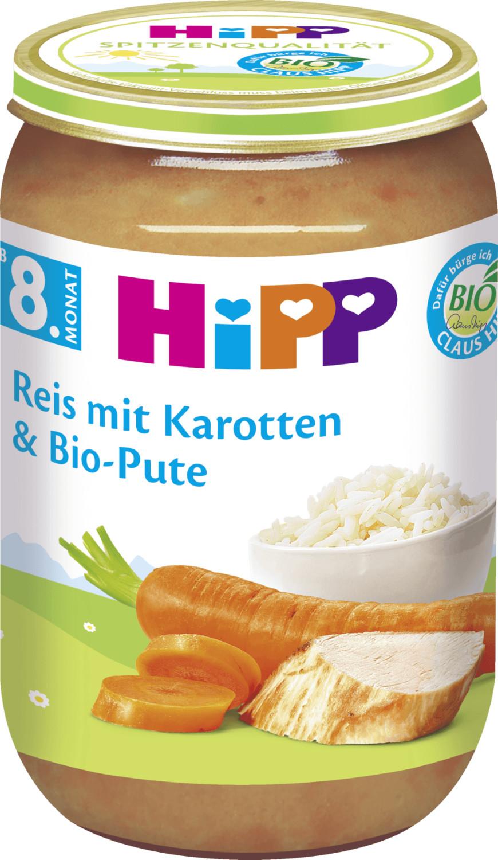 Hipp Reis mit Karotten und Bio-Pute (220 g)