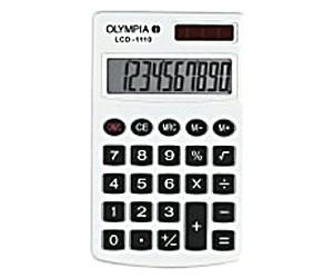 Olympia Taschenrechner LCD 1110 silber