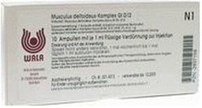 Wala-Heilmittel Musculus Deltoideus Komp. Gl D 12 Ampullen (10 x 1 ml)