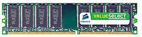 Corsair Value Select 1GB DDR PC2700 (VS1GB333) CL2.5