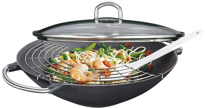 Küchenprofi Premium Wok mit Deckel 36 cm