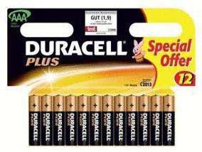 Image of Duracell 12x AAA / LR03 Plus MN2400