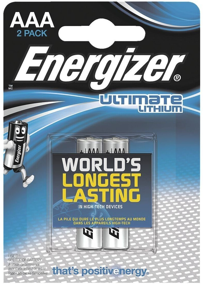 Image of Energizer 2x AAA / FR03 Ultimate Lithium