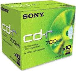 Sony CD-R 700MB 80min 48x 10er Jewelcase