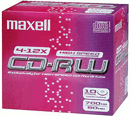 Maxell CD-RW 700MB 80min 10x 10er Jewelcase