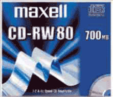 Maxell CD-RW 700MB 80min 4x 1er Jewelcase