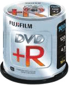 Image of Fuji Magnetics DVD+R 4,7GB 120min 16x 100pk Spindle