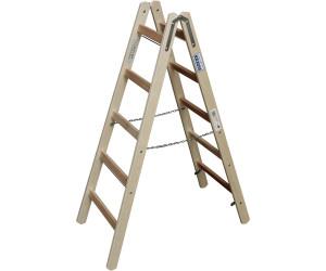 Layher Holzstehleiter 1059 Malerleiter Holz mit Breitsprossen