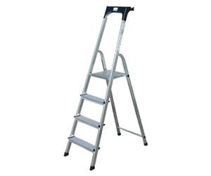 krause safety stufen stehleiter 6 stufen ab 54 99 preisvergleich bei. Black Bedroom Furniture Sets. Home Design Ideas