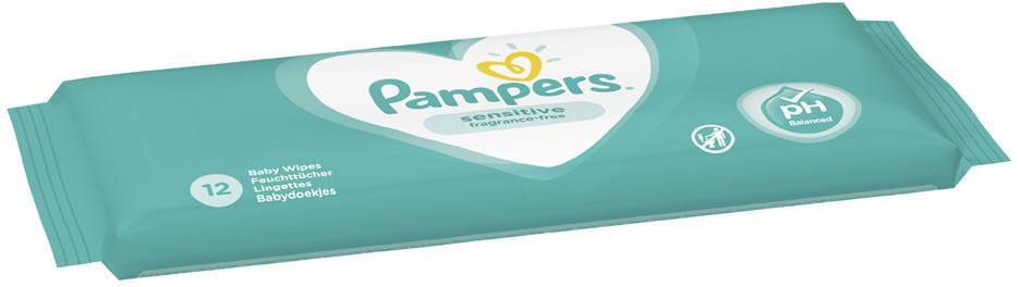 Pampers Sensitive Feuchttücher (12 Stk.) Travel Pack