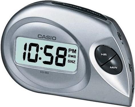 Reloj despertador Casio DQ-583-8EF Color Gris Plateado- Nuevo Envio urgente