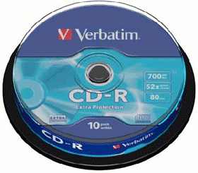 Verbatim CD-R 700MB 80min 52x Extra Protection ...