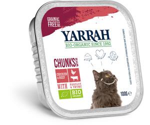 Yarrah Bio-Katzenfutter Bröckchen mit Huhn und Rind 100g