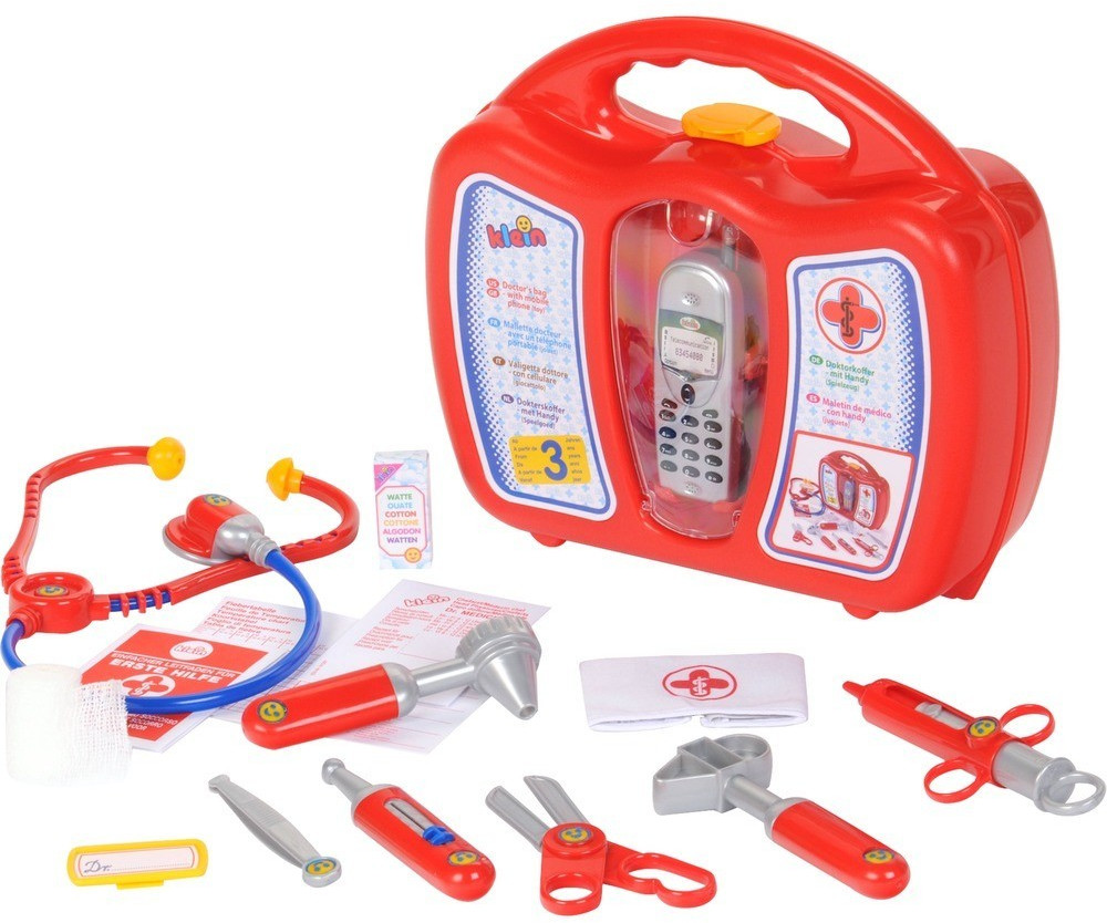 Klein Doktorkoffer mit Handy