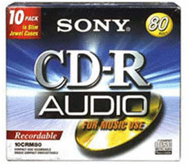 Sony CD-R Audio 700MB 80min 10er Jewelcase